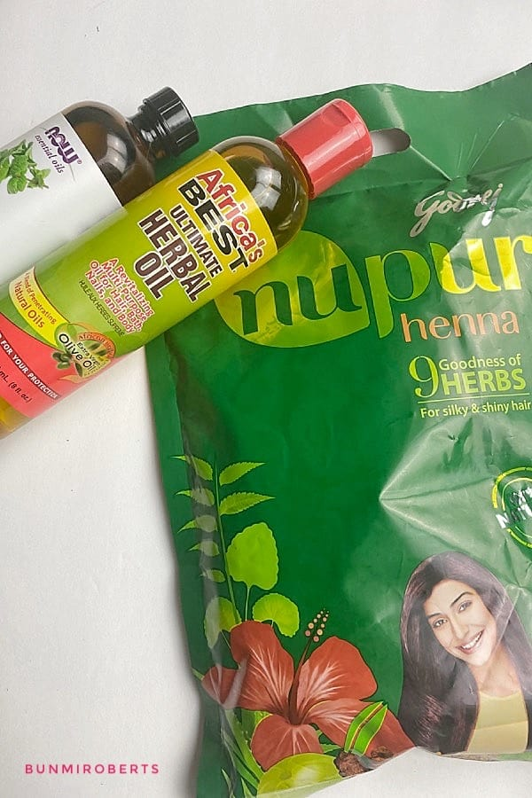 Picture of Nupur henna, Africa best oil and peppermint essential oil