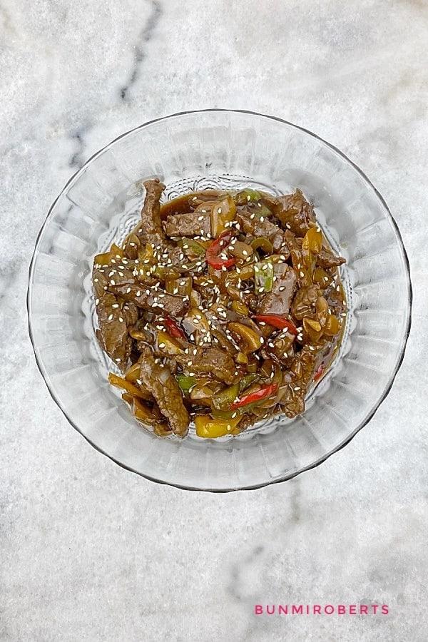 beef and mushroom stir fry