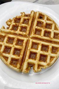 almond flour keto waffles served